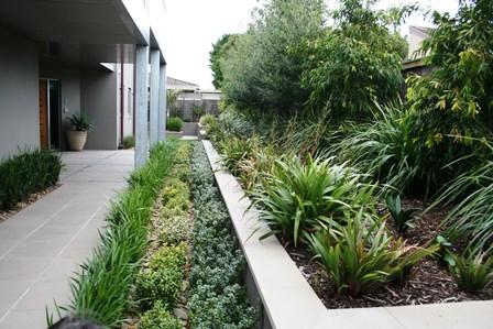 Resort style landscape garden