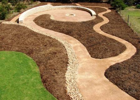 Fire pit garden